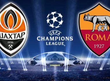 champions league Shakhtar Donetsk vs Roma