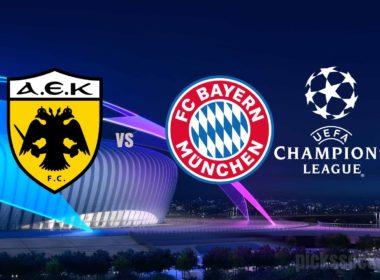 AEK vs Bayern Champions League