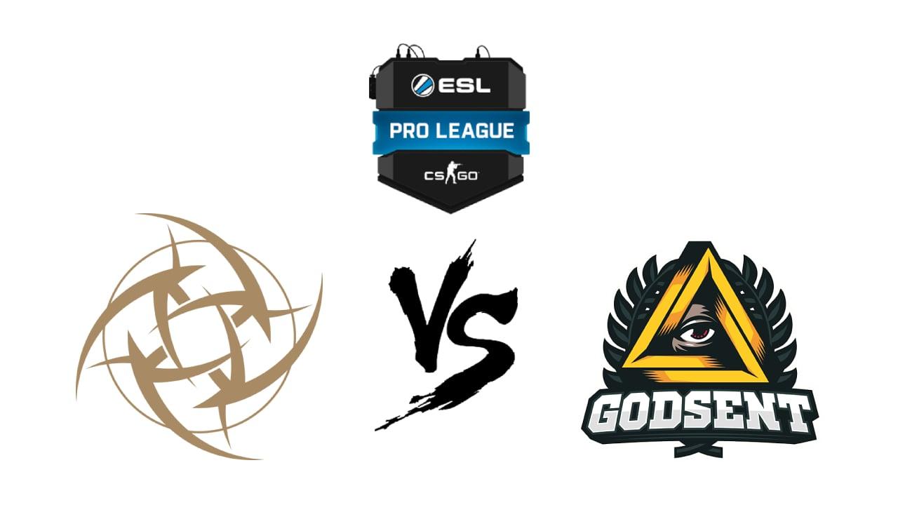 NiP vs Godsent Betting Prediction & Odds ESL Pro League